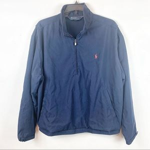 1/2 ZIP MESH LINED POLO NAVY PULLOVER JACKET XXL